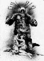Robot Monster Pinup B-Movie Homage Comic Art