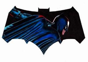 Super Detailed BATMAN Painted Pinup Comic Art
