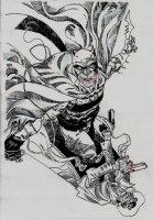 The Shadow / Batman #2 Cover (2017) Comic Art