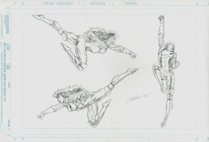 ROGUE Style Guide Art For Model / Statue (1996) Comic Art