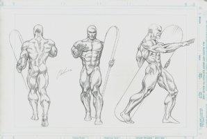 SILVER SURFER Style Guide Art For Model / Statue (1996) Comic Art