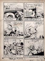 Master Comics #10 p 7 BULLETMAN (Large Art) 1940 Comic Art