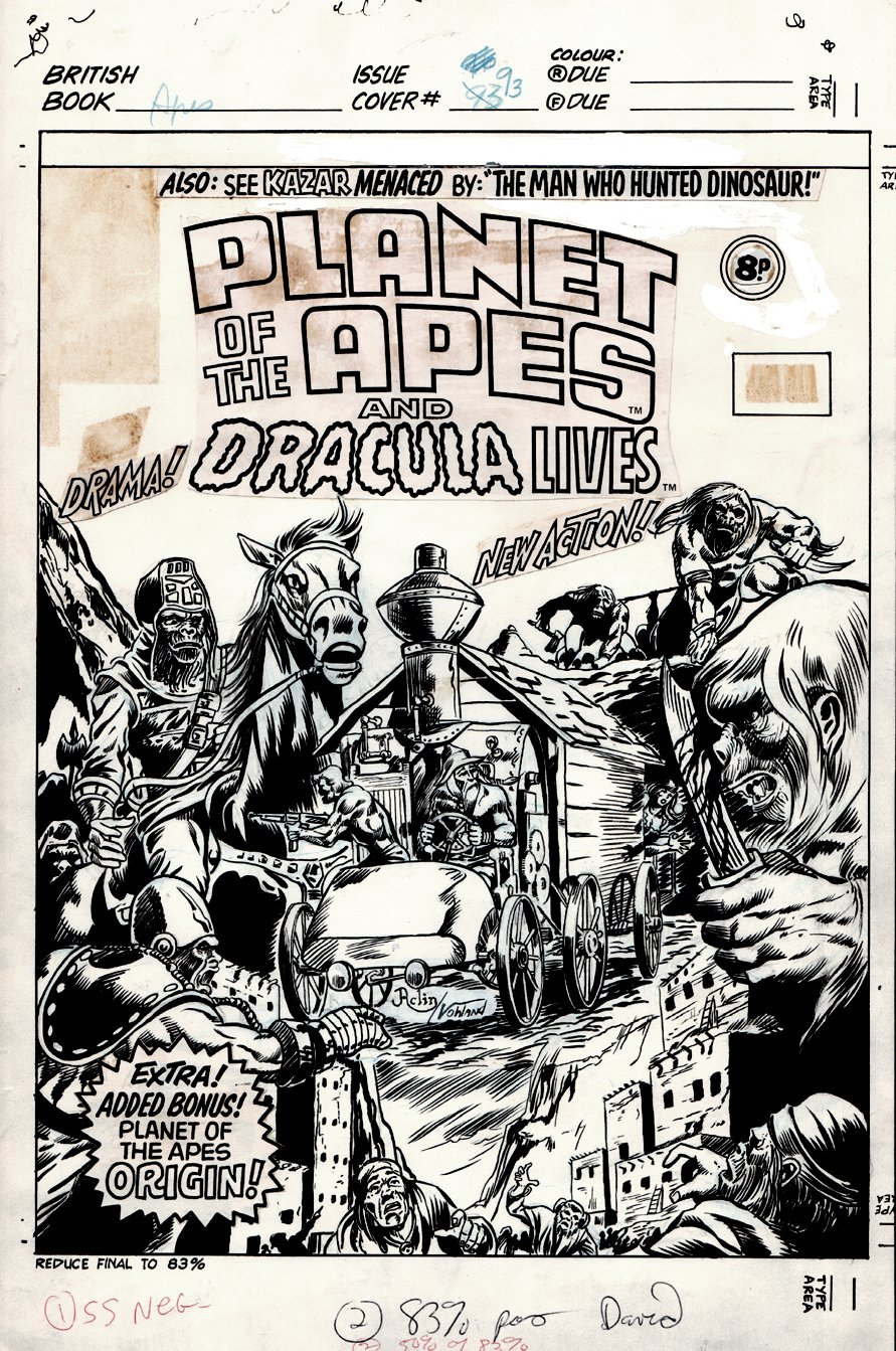 Planet of the Apes #93 Cover (1976)