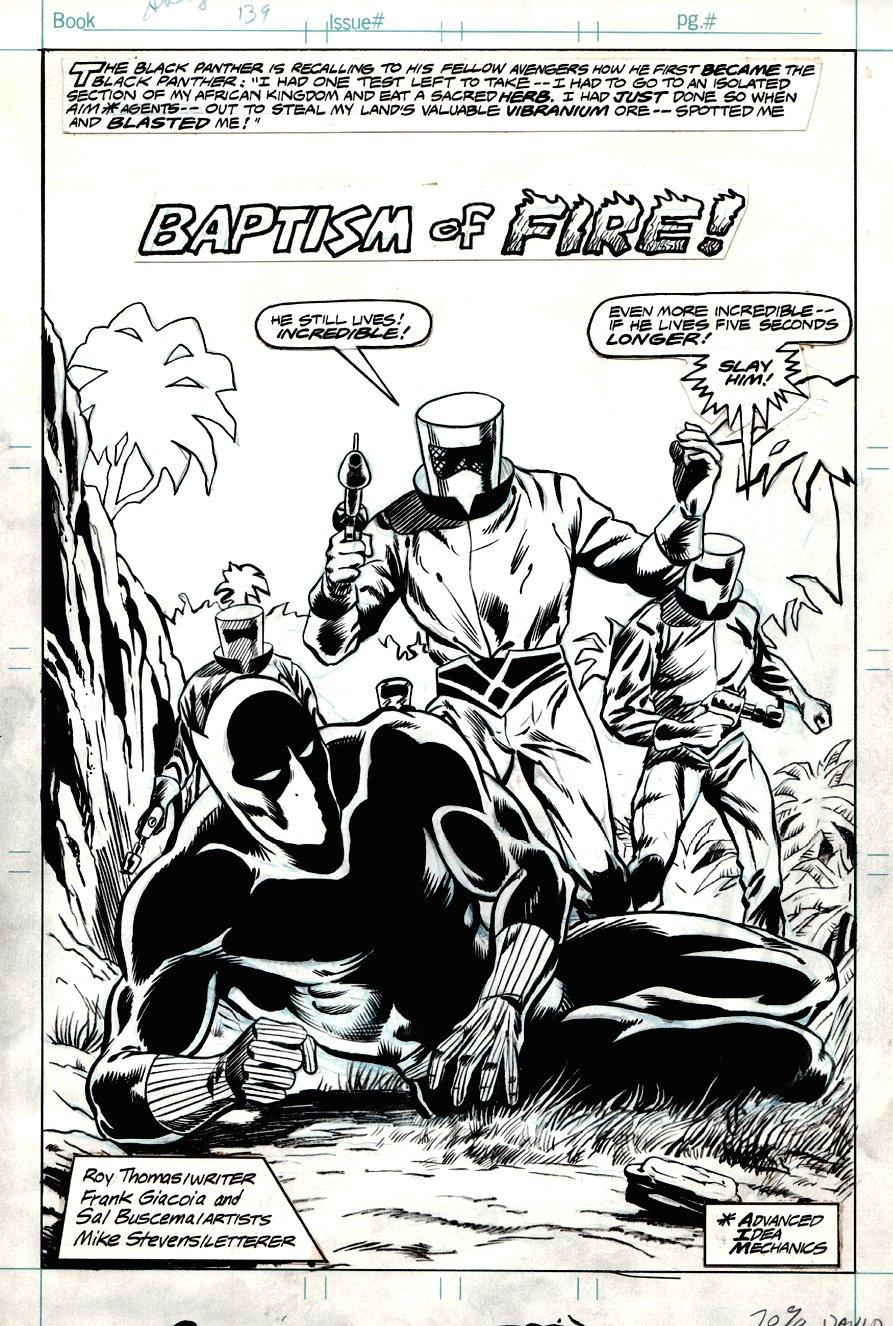 Avengers #139 p 1 SPLASH (1976)