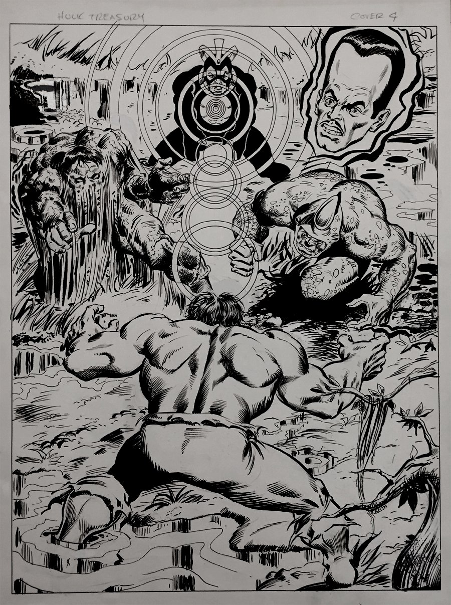 Marvel Treasury Edition #17 Back Cover (Very Large) 1978