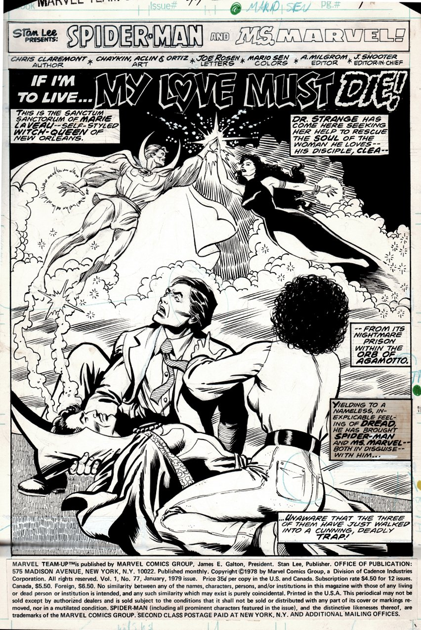 Marvel Team-Up #77 p 1 SPLASH (1978)