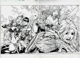 Witchblade #158 Wraparound Cover (2012) Comic Art