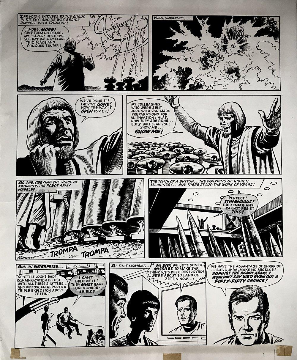 Star Trek Newspaper Strip (HUGE) 2-3-1973