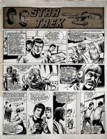 Star Trek Newspaper Strip (HUGE) 1-6-1973 Comic Art