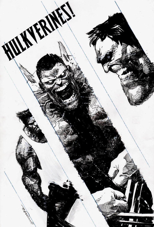 Hulkverines #3 Cover (HULK, WOLVERINE, WEAPON H!) 2019