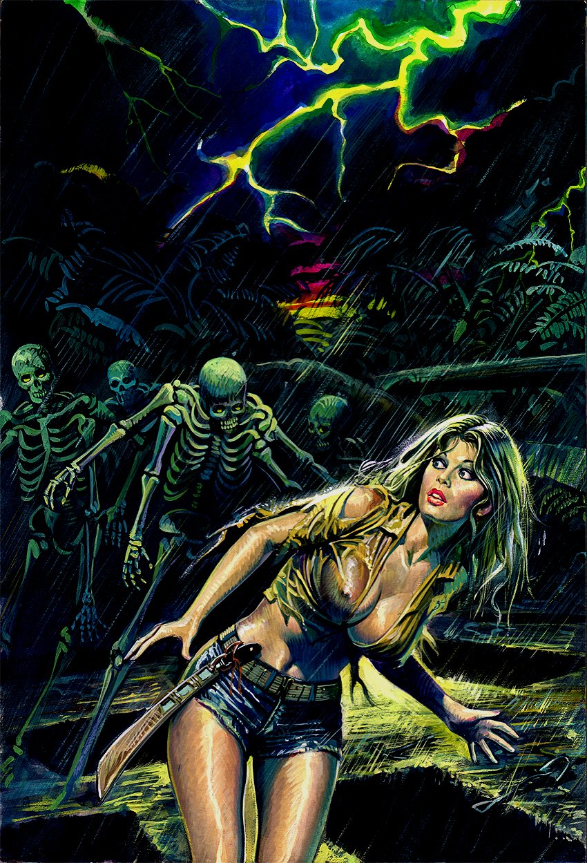 'Terror Blu' #58 Cover Painting (1979)