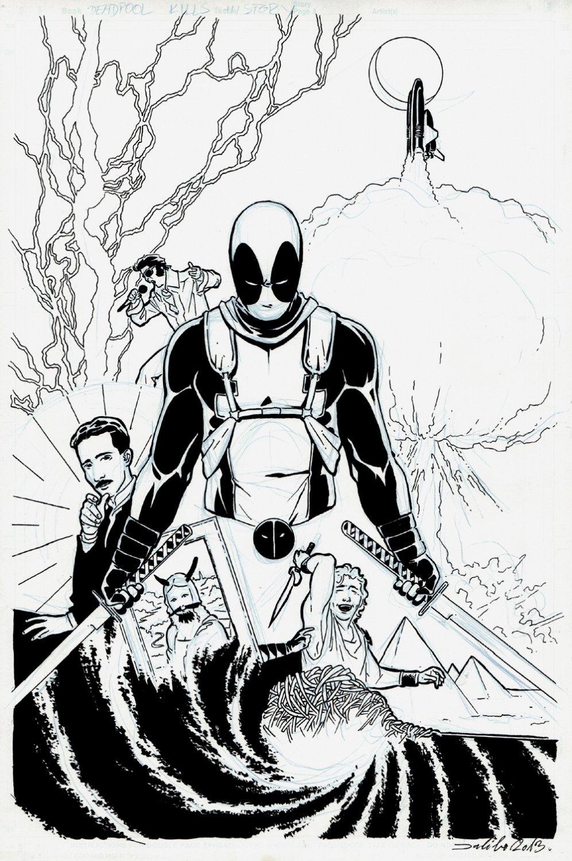 Deadpool Kills the Marvel Universe Unused Cover