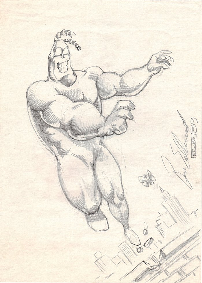 THE TICK Full Body Pinup (1989)