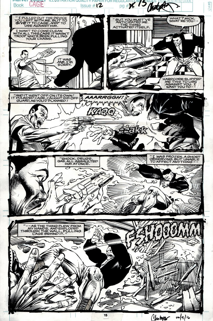 Cage #12 p 15 (Battle Page!) 1992