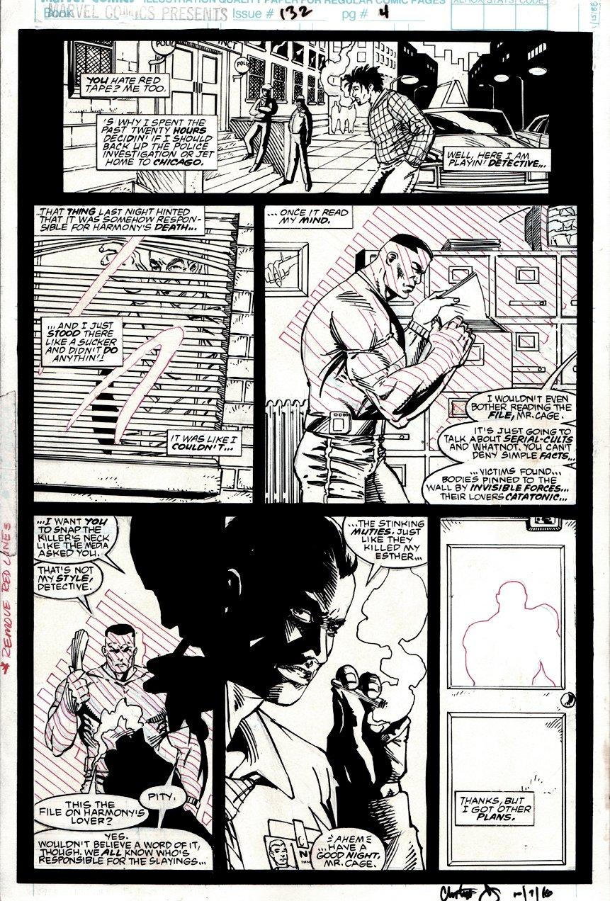 Marvel Comics Presents #132 p 4 (Luke Cage!) 1993