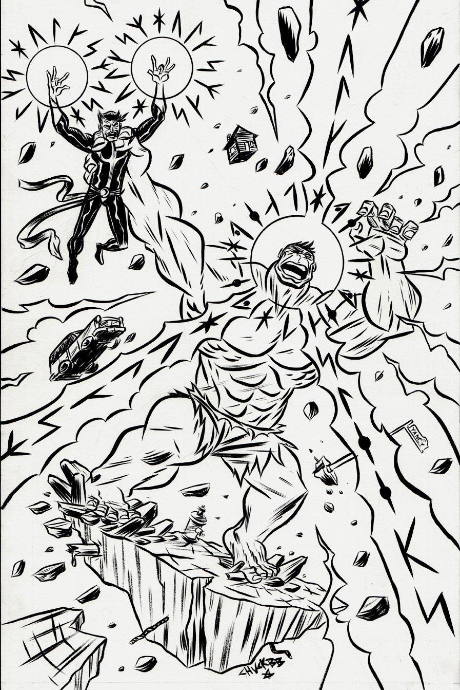 New Avengers #34 p 7 SPLASH (2012)