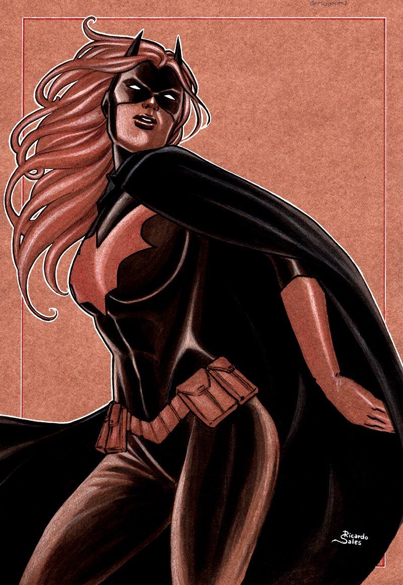 Batwoman Mixed Media Pinup