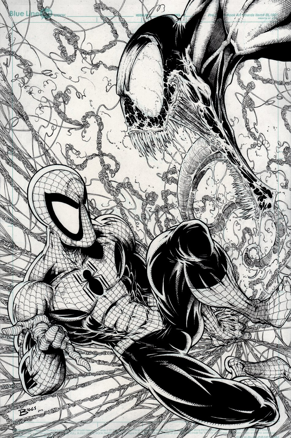 Spider-Man Vs. Venom Incredibly Detailed McFARLANE-ESQUE Pinup (2014)