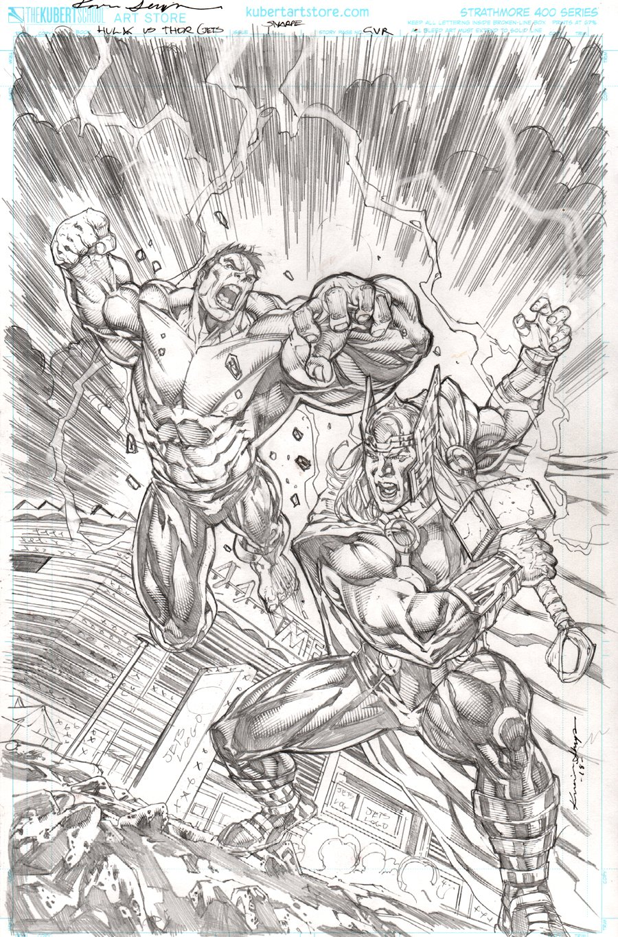 Incredible Hulk Vs. The Mighty Thor #1 Cover (2018)