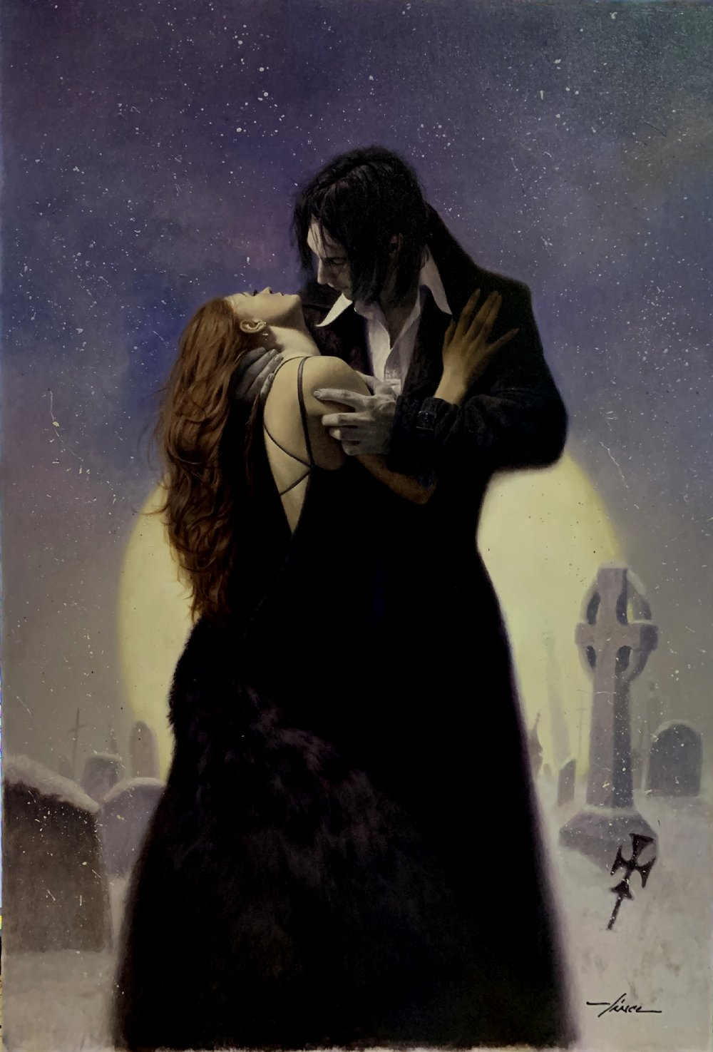 'Wicked Deeds on a Winters Night' Book Cover Painting (LARGE)