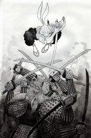 Usagi Yojimbo Pen Ink Wash Pinup Page d Comic Art