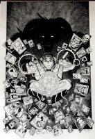 X-Men: Blue #10 Cover (VERY LARGE) 2017 Comic Art