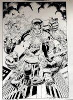 X-Men: Blue #3 Cover (VERY LARGE) 2017 Comic Art