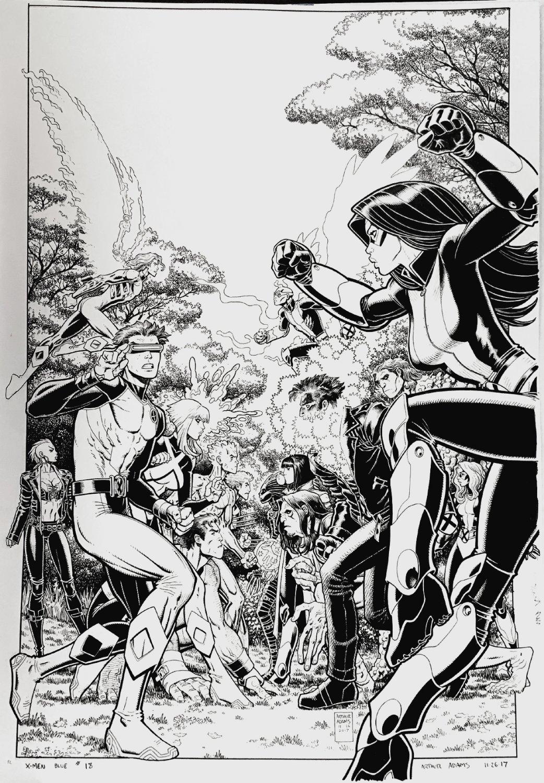 X-Men: Blue #18 Very Large Cover (6 HEROES BATTLING 6 HEROES, WOW!) 2017