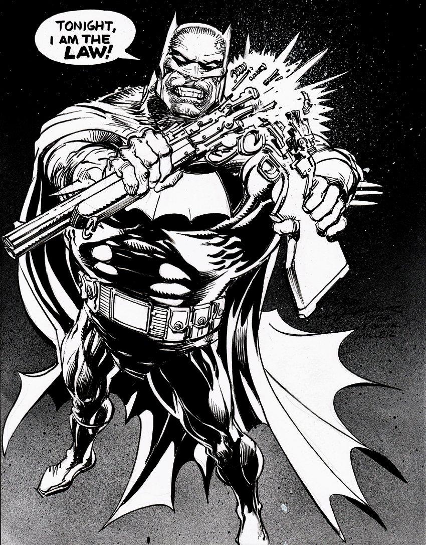 Batman Pinup (Frank Miller Homage)