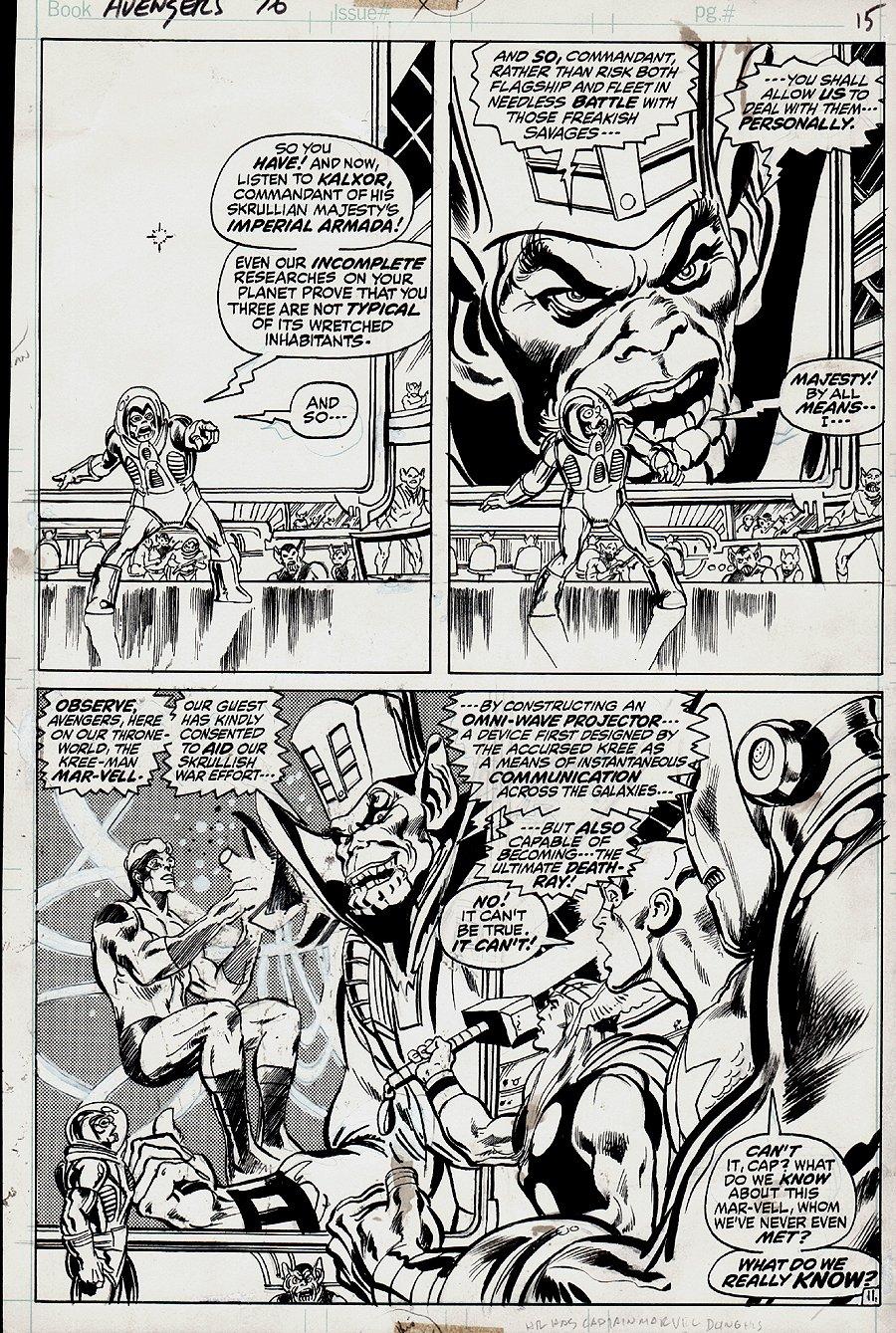 Avengers #96 p 11 SPLASH (1971)