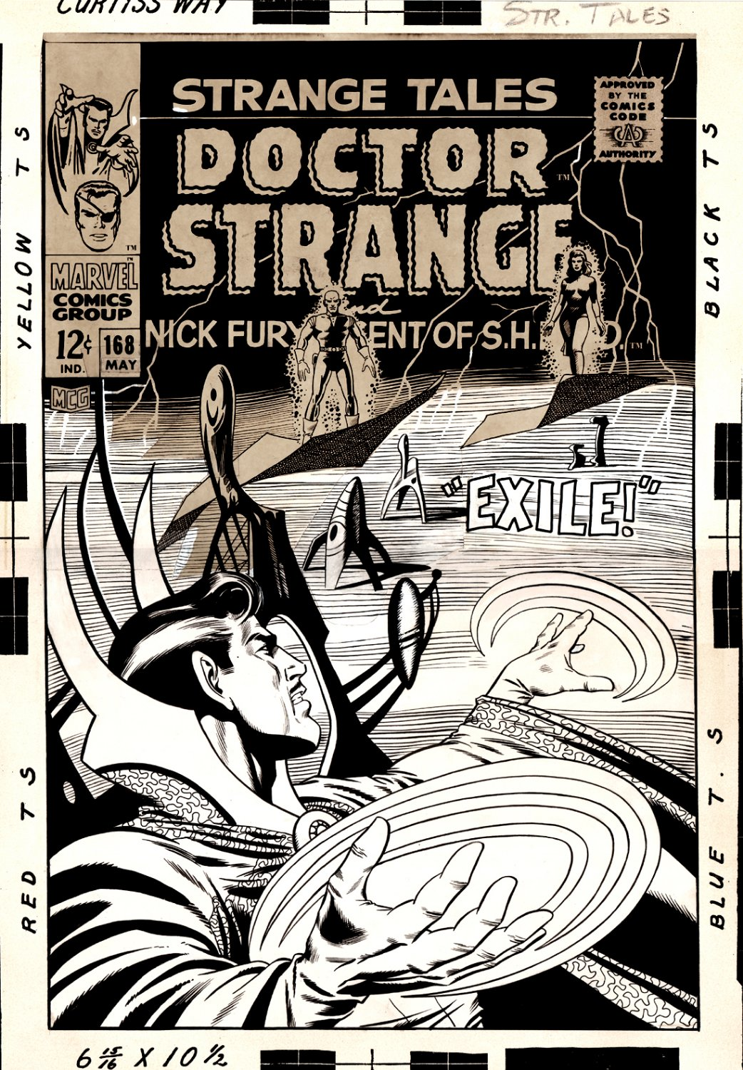 Strange Tales #168 Last Issue Large Art Cover (Dr. Strange #0) 1967