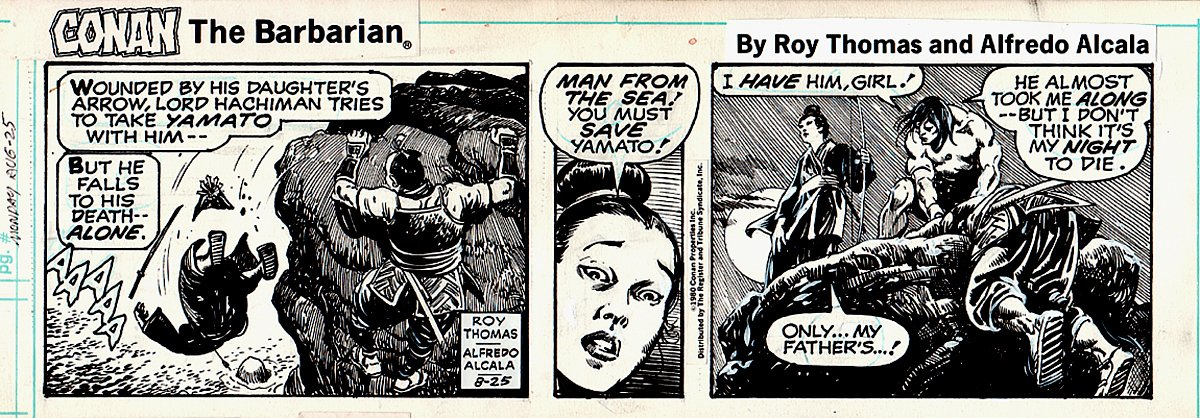 Conan Daily Strip 8-25-1980