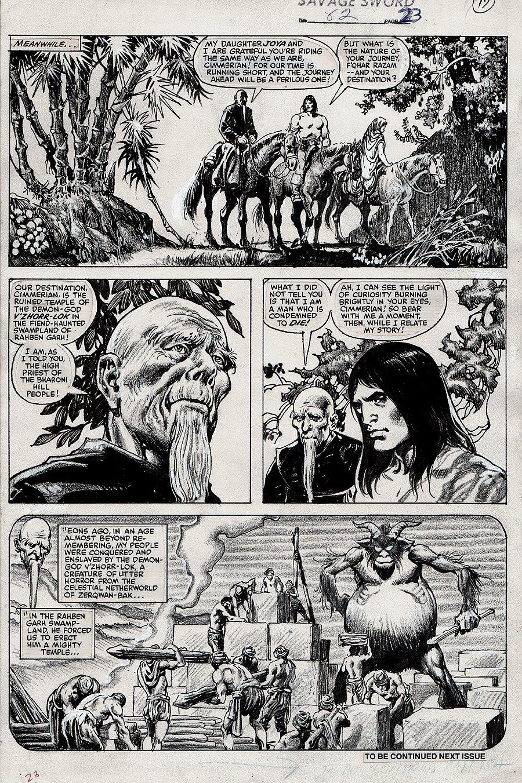 Savage Sword of Conan #82 p 23 (1982)