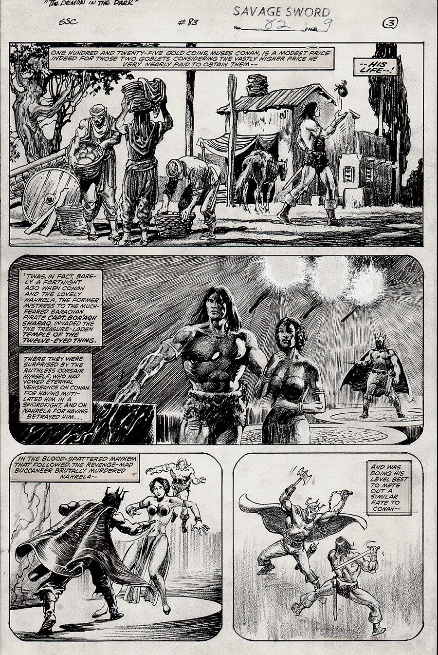 Savage Sword of Conan #82 p 9 (1982)