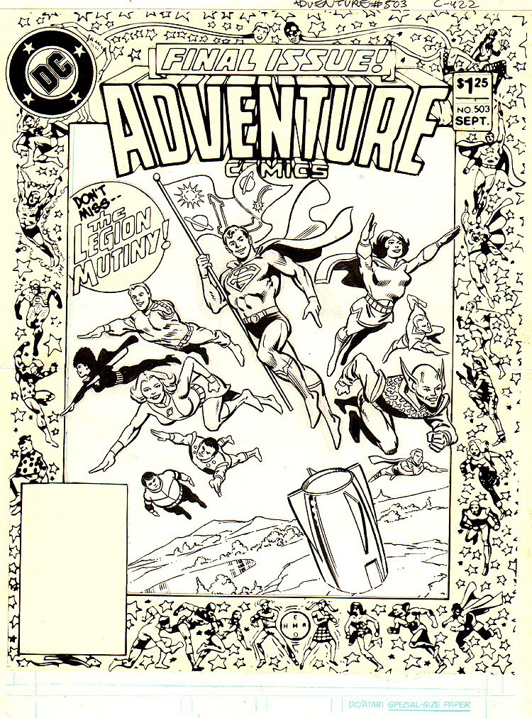 Adventure Comics #503 FINAL ISSUE COVER (LEGION OF SUPER HEROES)1983