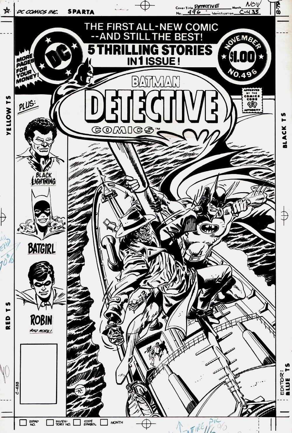 Detective Comics #496 Cover (BATMAN BATTLES CLAYFACE!) 1980