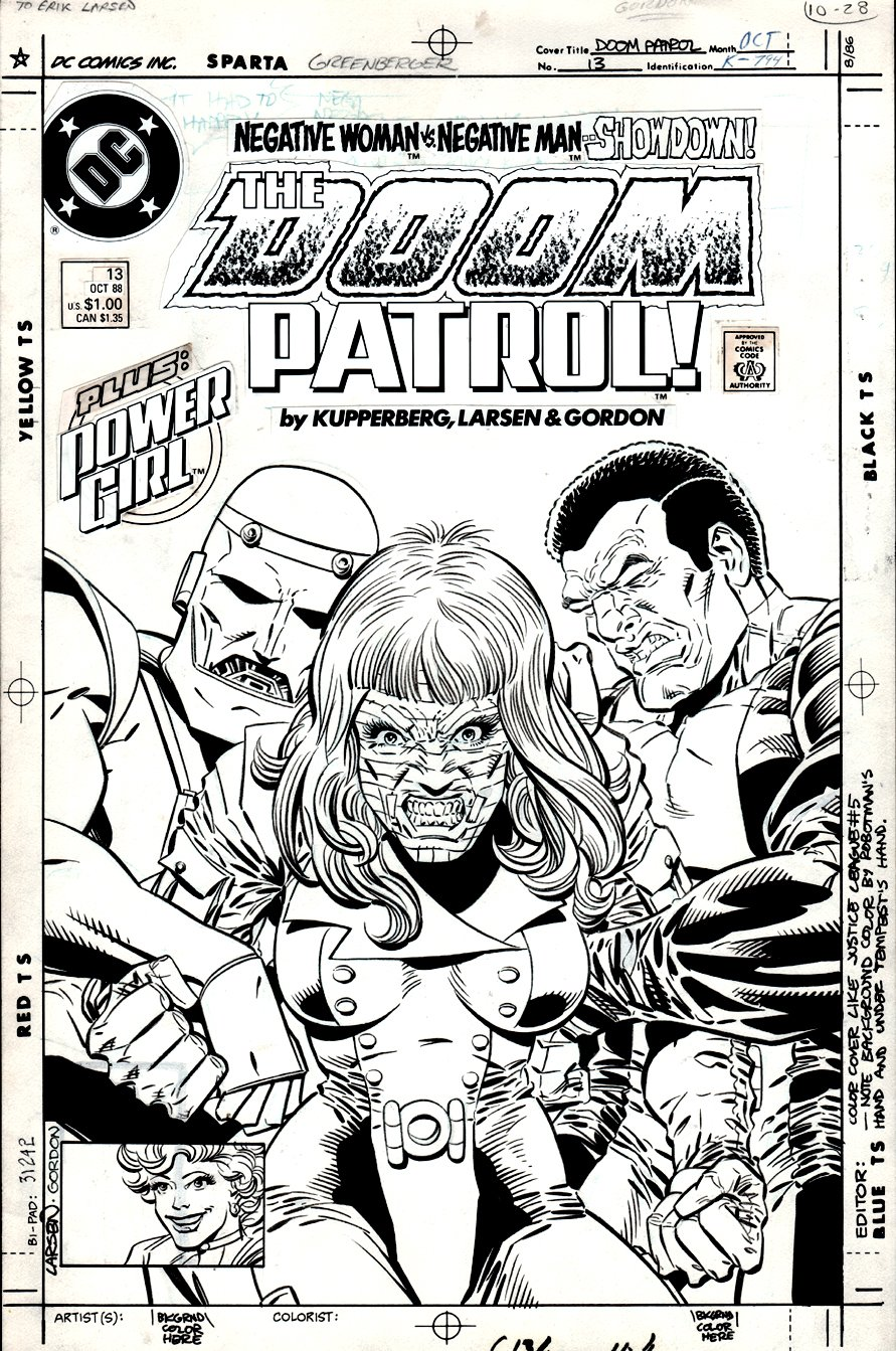Doom Patrol #13 Cover (1987)