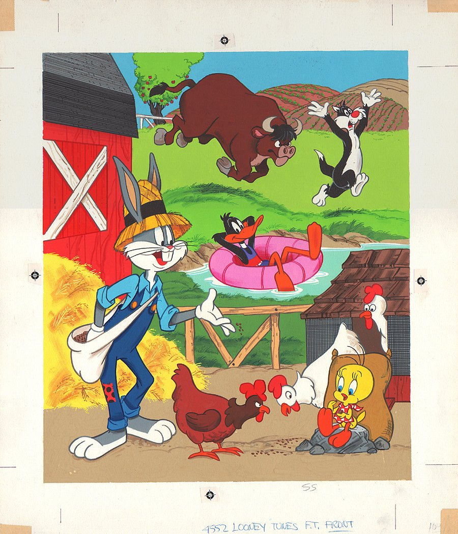 Looney Tunes Puzzle Cover Painting (1970s)