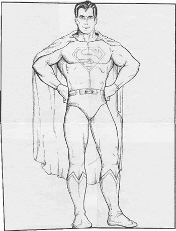 Superman Large 1970s Merchandising Art