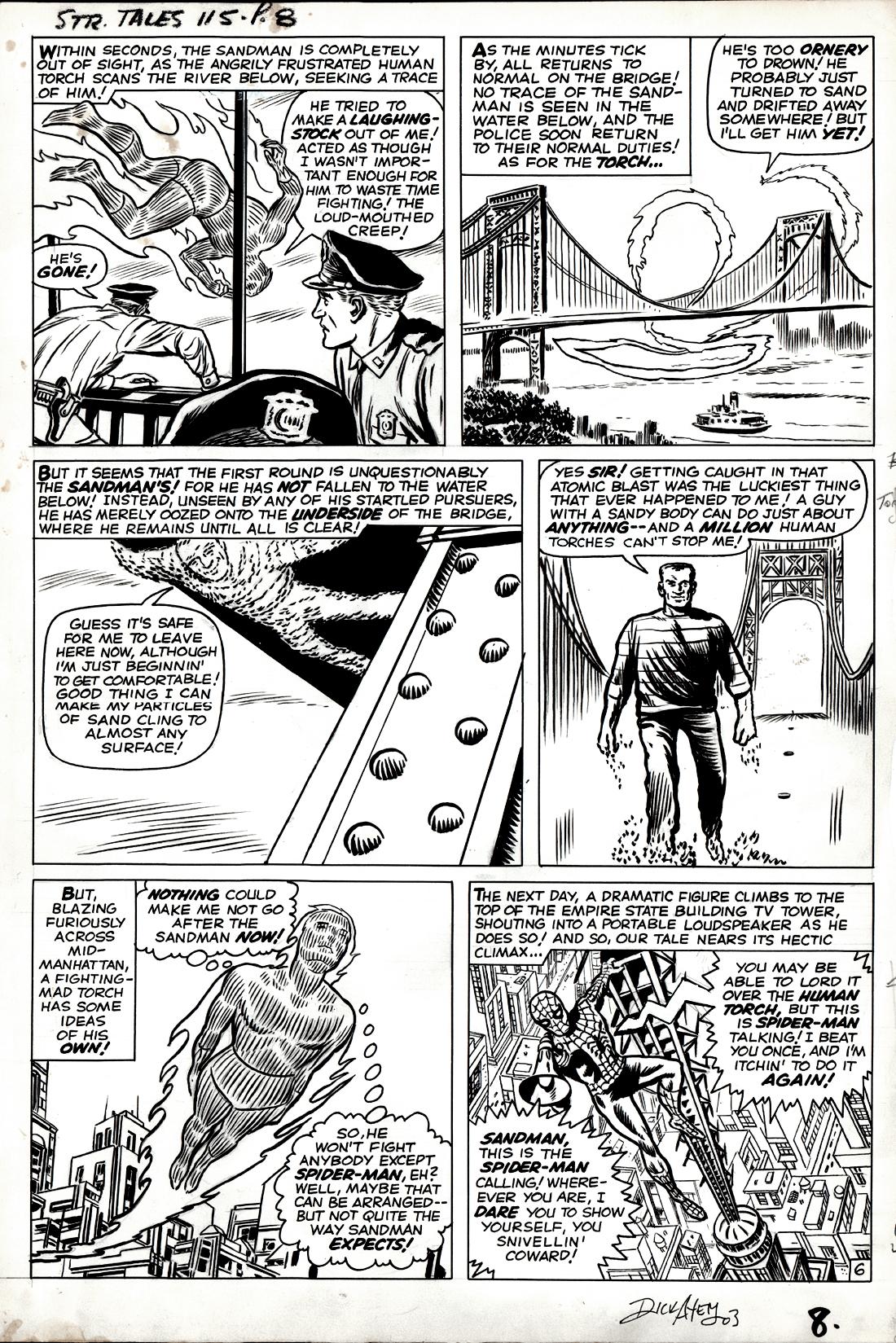 Strange Tales #115 p 6 (SAME MONTH AS AMAZING SPIDER-MAN #7!) Large Art 1963