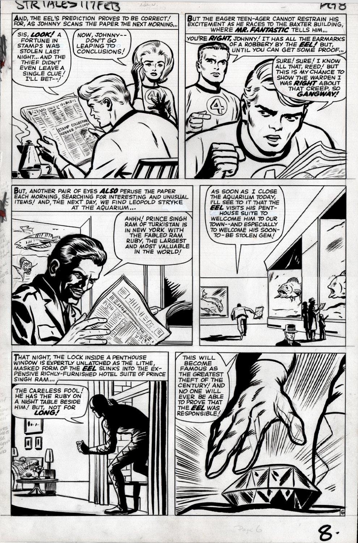 Strange Tales #117 p 6 (Human Torch, Invisible Girl, Mr. Fantastic!) Large Art 1963