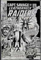 Capt. Savage and His Leatherneck Raiders #2 Cover (LARGE ART) 1967  Comic Art