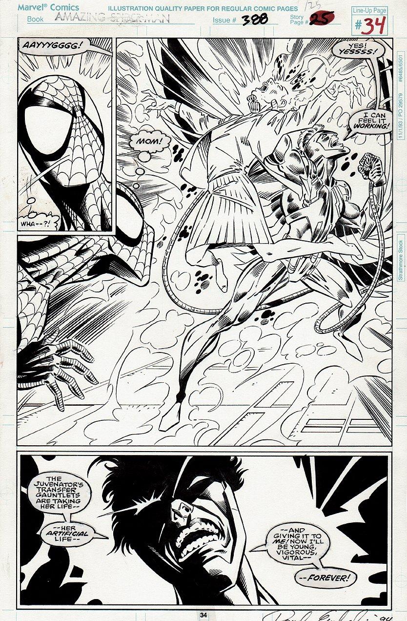 Amazing Spider-Man #388 p 34 Semi-Splash (1993)