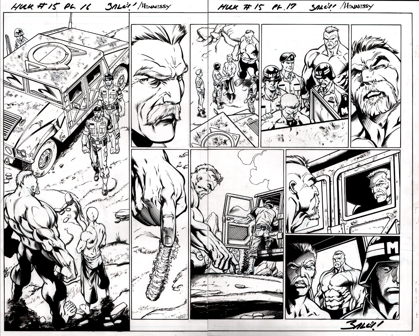 Hulk #15 p 16-17 Double Page Spread (2015)