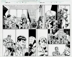 Ultimate Spider-Man/Iron Man #4 p 8-9 Double Spread SPLASH (2009) Comic Art