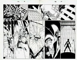 Ultimate Spider-Man #52 p 16-17 Double Page Spread (2003) Comic Art