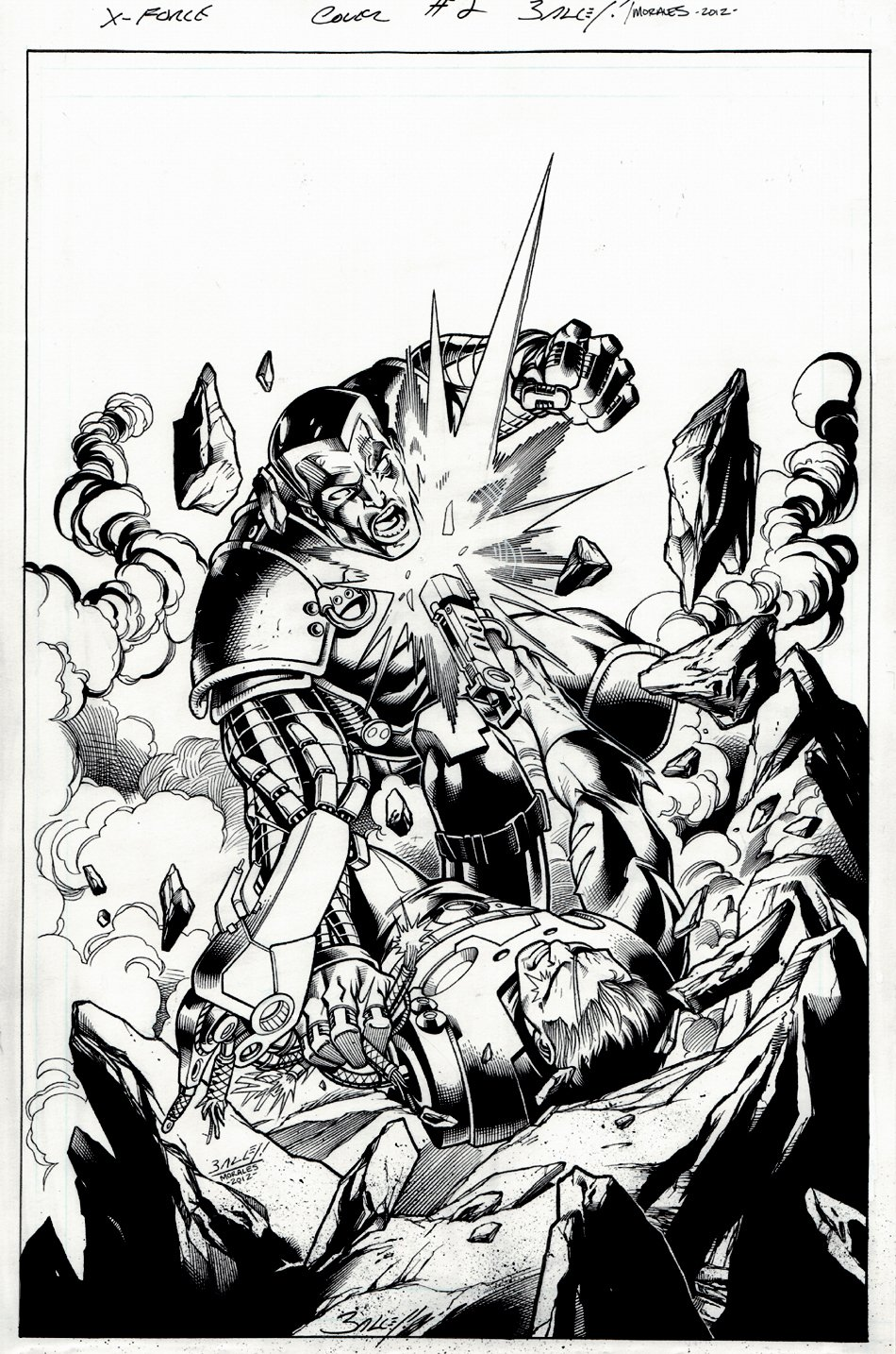 Cable and X-Force #2 Cover (2012)