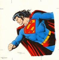 Superman Calendar Painting Comic Art