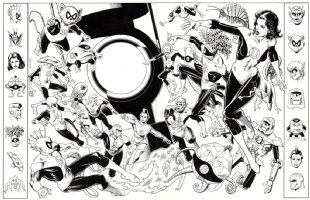 Who's Who Of The DC Universe #9 (Double Page SPLASH) 1985 Comic Art