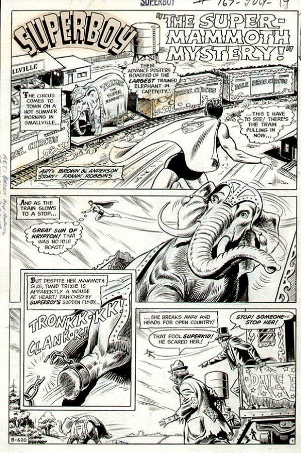 Superboy #167 p 1 SPLASH  (1970)
